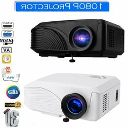 3D 1080P Mini Wireless Portable Projector 5000 Lumens LED Ho