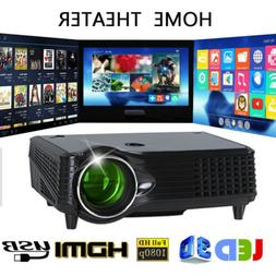 3D 5000 Lumens Mini 4K HD 1080P Projector Home Theater LED