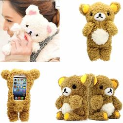 3D Doll Toy Cool Plush Teddy Bear Cover Case For iPhone 8 7
