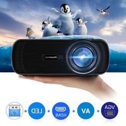 3D Full HD 1080P Mini LED Projector 7000 Lumens Home Cinema
