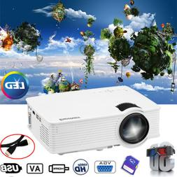 3D Full HD 1080P Mini Projector 7000 Lumens LED Multimedia H
