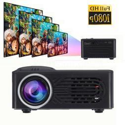 3D Full HD Mini Projector LED Multimedia Home Theater USB Pr