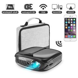 3D Mini Projector ELEPHAS WiFi DLP Portable projector Airpla