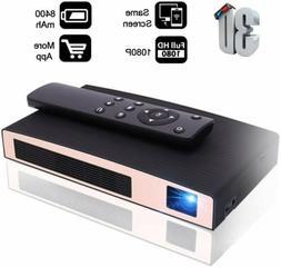 3D Mini Projector MOTOU DLP Portable LED Projector HD