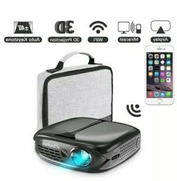3D Mini Projector, ELEPHAS  WiFi DLP 10000 mAh Portable free