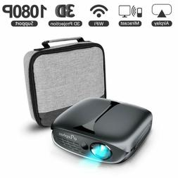 3D Mini Projector, Elephas Wifi Dlp Portable Pico Video Proj