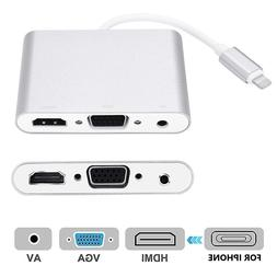 4 In1 Digital Audio Video HDTV Converter for <font><b>IPhone