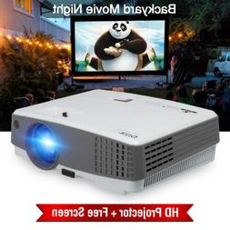 4000lms Mini LED Projector HD 1080P Home Theater Video Game