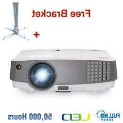 EUG 4000lms Mini Projector HD Portable LED Home Theater PS4