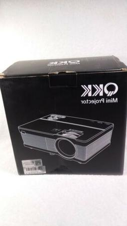 4500lumens QKK Mini LCD Projector Projector outdoor indoor b