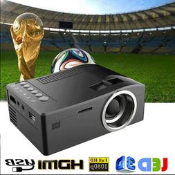 4K 1080P 2000 Lumens LED Mini Projector Home Theater Multime