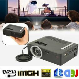 4K 1080P 3000 Lumens LED Mini Projector Home Theater Multime