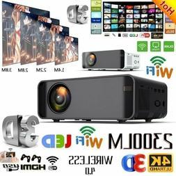 4K 1080P HD WiFi Portable 3D LED Mini Home Cinema Video Proj
