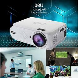 4K 3D 1080P HD LED Mini Projectors Home Theater Cinema Video