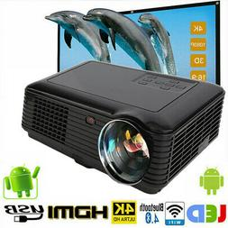 4K 3D Wifi DLP Mini Portable Full HD 1080P Home Theater Proj