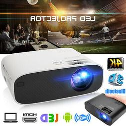 4K Full HD 1080p 3D Bluetooth 4.0 LED Mini Projector 2500LM