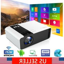 5000 Lumens 1080P Projector Mini Android Wifi LED Movie Home