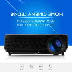 5000 Lumens Mini LED LCD Projector 3D HD 1080P Home Theater