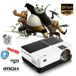 5000 Lumens Mini LED LCD Projector Full HD 1080P Home Theate