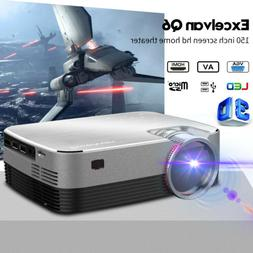 5000 Lumens Mini Portable LED Projector 1080P 3D Home Cinema