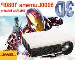 5000 lumens Portable Mini Pocket 1080P HD LED HDMI Projector