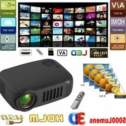 5000 Lumens Portable Mini Projector HD 1080P Home Theater Ci