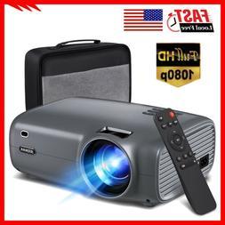 5000Lumen Mini LED Projector 1080P Portable Video Movie Home