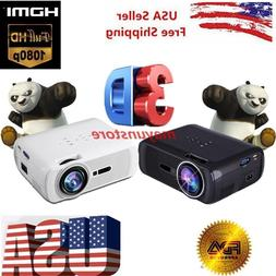 5000Lumens Full HD1080P LED LCD 3D VGA HDMI Home Theater Pro