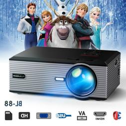 5000Lumens Mini Portable Multimedia LED Projector 1080P Home