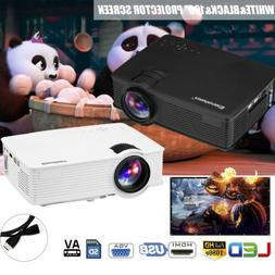 7000 Lumens 3D Full HD 1080P Mini Projector LED Multimedia H