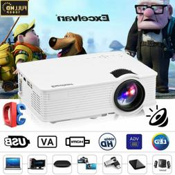 7000 Lumens FHD 1080P 3D LED Mini Video Home Theater Project