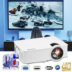 7000 Lumen 3D Projector 1080P FHD LED Multimedia Smart Home