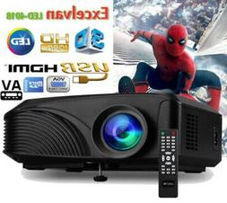 7000Lumens 3D Wireless HD 1080P Mini Projector LED Home Thea