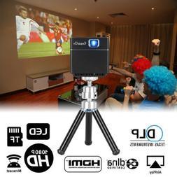 Exquizon Cube Mini DLP Smart Projector Video Wifi Wireless W