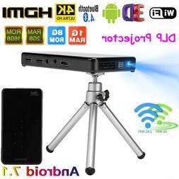 8G/16G 4K Smart DLP Mini Projector Android 7.1 WiFi Bluetoot