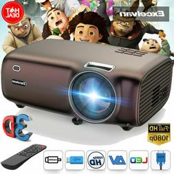 5000Lumens Mini Projector HD Home Theater Video Movie Multim