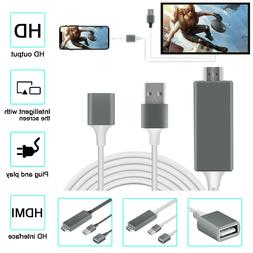Lightning To HDMI Digital Cable Adapter TV Projector Cable F