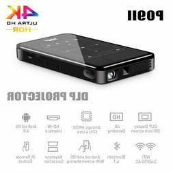 Android 6.0 2.4/5G WiFi Mini DLP Projector LED 3D 8G Bluetoo