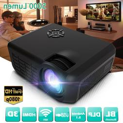 Android DLP HDMI Wifi 1080P LED Mini Projector 3D bluetooth