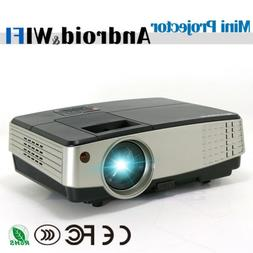 Android WiFi Smart LED Projector Wireless LCD 1080P Home The