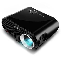 Compact Color Pro Digital Projector, HD 1080p Support, Built