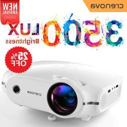 Crenova 3800 Lux Mini Projector, Multimedia Home Theater Vid