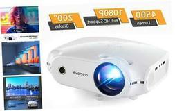 Crenova Mini Projector,1080P Full HD Supported Portable Phon