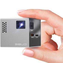 RIF6 CUBE Full LED Mini Projector - 1080p Supported Portable