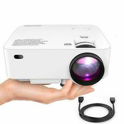 "DBPOWER Mini Projector 176"" Display 1080P Full HD LED Movie"