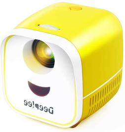 DEEPLEE Mini Projector Portable Projector for Kids LED Video