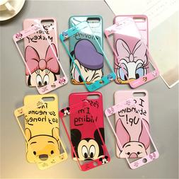 Disney Lanyard Full Cover Case+Glass Phone For iPhone 11Pro