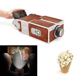 DSstyles DIY 3D Projector Cardboard Mini Smartphone Projecto