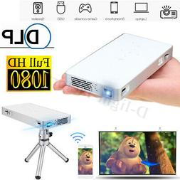 DLP HD 1080P Mini Smart WiFi Projector LED Display Home Thea