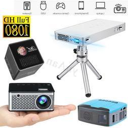 DLP HD 1080P Mini Smart WiFi Projector Short Focus LED Displ